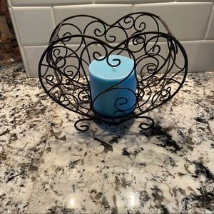Home Interiors Heart Wire Candleholder